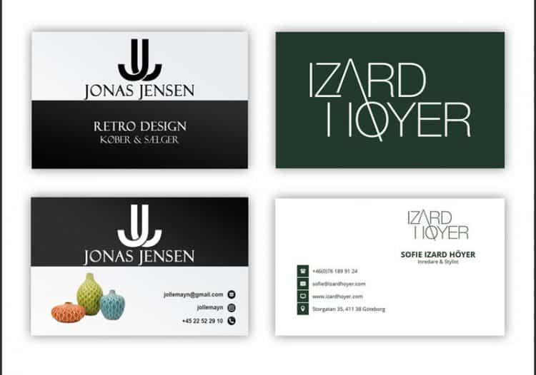 visitkort design